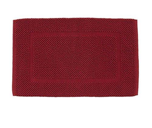 Tappeto arredo bagno zucchi solotuo 100% cotone 1550 gr/m² tessuto a mano (cm 50 x 80, rosso rubino)