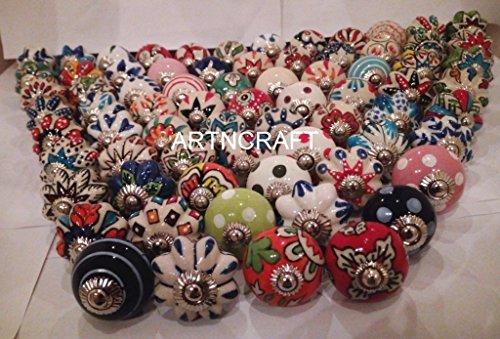 Juego de 20 pomos de cerámica mezclados y surtidos, de Knobworld, para aparador, armarios de cocina, cajones