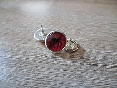 Pin's / badge Spiderman - Cabochon 12 mm ø