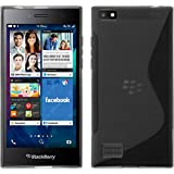 PhoneNatic Case für BlackBerry Leap Hülle Silikon grau, S-Style + 2 Schutzfolien