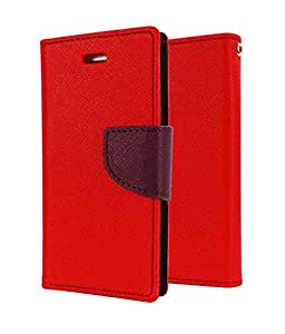 DR2S Mercury Wallet Flip Cover for Micromax Canvas Fire A104 - Red