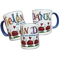 Keramiktasse, Vielen Dank für die tolle Kindergartenzeit, Rosirosinchen, Abschiedsgeschenk für Erzieherin