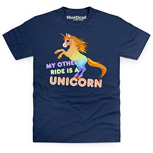 My Other Ride Is A Unicorn Funny Novelty T-Shirt, Herren Dunkelblau