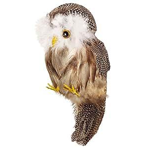 Chouette déco avec plumes personnage de déco hibou oiseau sage chouette jolie chouette de déco décoration d'intérieur décoration Halloween