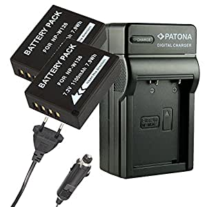 Chargeur PATONA + 2x Batterie pour NP-W126 FUJI-FILM FINEPIX HS30EXR X-PRO1