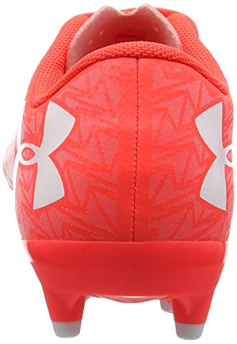 Under Armour Ua Cf Force 3.0 Fg Jr, Chaussures de Football Mixte Enfant Rouge (Neon Coral 611)