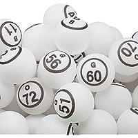 GSE Games & - Juego de Bolas de Bingo de Repuesto para Deportistas DE 1,5 Pulgadas, Color Blanco (75#)