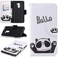 Ostop Brieftasche Leder Hülle für Xiaomi Pocophone F1,Standfunktion Geldbörse Hello Panda Weiß PU Muster Magnetverschluss... preisvergleich bei billige-tabletten.eu