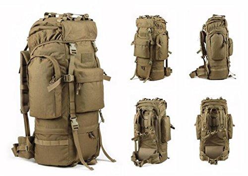 alpinismo impermeabile uomini e donne zaino borsa da viaggio 65L ( Colore : Nero , dimensioni : 65L ) Khaki