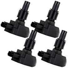 ECCPP Ignition Coil Pack of 4 for 2004 2005 2006 2007 2008 Mazda RX-8 1.3L R2 UF501 5C1450 N3H118100 N3H1181009U by ECCPP