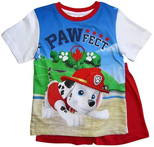 Paw Patrol Schlafanzug Kollektion 2018 Pyjama 92 98 104 110 116 122 Shortie Shorty Jungen Rot (Rot, 98-104) (Jungen Hund Kleinen Pyjamas Hund)