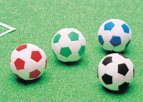 Japanese Iwako Eraser Soccer Ball Eraser 60pcs Pack (4 Colors Assorted) by Iwako