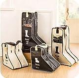 Generic Big Bag en noir: Beige Noir durable pratique Tissu non tissé Bottes Chaussures Haut Talon Organiseur de sac de rangement anti-poussière Protector
