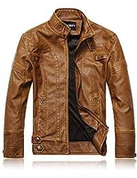 f4aa713886b88 Hommes Motard Cuir Blouson Veste Chaud Manteau Automne Hiver Vêtements