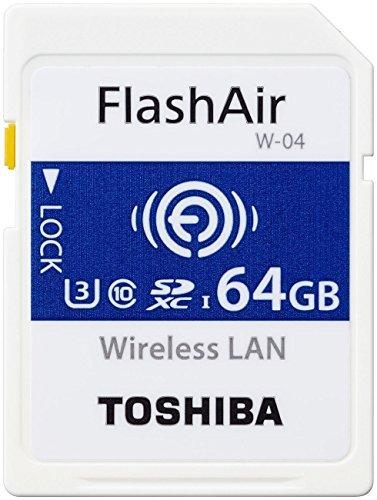 Toshiba flashair w-0464gb sdxc class 10memory card