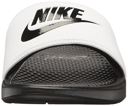 Nike Benassi, Chaussures de Plage et Piscine Homme Blanc (White/Black Black)