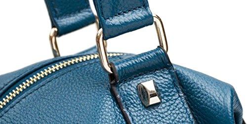 FZHLY Signore Di Svago 2017 Nuovo Cuoio Europa E Negli Stati Uniti Vento Belt Bag Decoration,RedWine Khaki