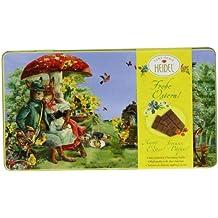 Heidel Confiserie Metal Tin con 4 tabletas de chocolate con leche - 1 x 120 gramos