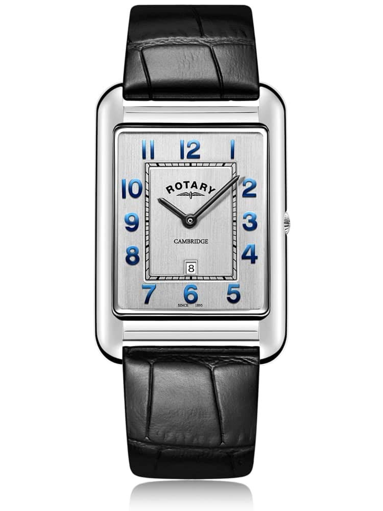 Rotary   Gents Black Leather Strap Date  GS05280/70