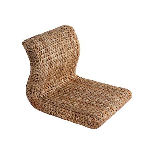 JiuErDP Rattan Gras Rückenlehne Sitz und Zimmer Stuhl Bett Erker Fenster Sitz Lazy Chair niedrigen Stuhl Stuhl Beinlose Sofa -