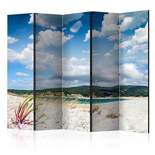 murando Biombo con Tablero de Corcho Playa Mar 225x172 cm - de Impresion Bilateral en el Lienzo de TNT de Calidad - Decoracion Cuarto - Biombo de Madera con Imagen Impresa c-B-0353-z-c