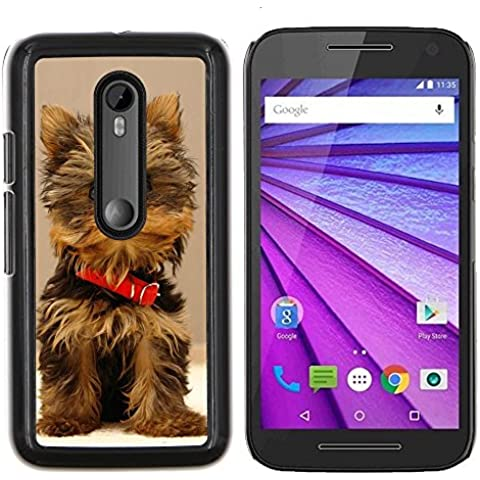 # Duro Custodia protettiva Caso Cassa PC Coprire Hard Protective Case forMotorola MOTO G3 ( 3nd Generation ) # Carino Yorki Yorkie Terrier Dog Cute Yorki Yorkie Terrier Dog# Gift Phone Case Housing