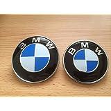 Juego de 2 insignias de BMW 82 mm compatible con los modelos de BMW E30, E36, E46 y las series 3, 5 y 7