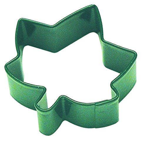 R & M Mini Ivy Leaf Cookie Cutter Grün mit bunte, langlebig, eingebrannte Polyresin Finish (Leaf Cutter Ivy)