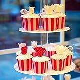 4-Etagen Cupcake Ständer, Tortenständer, Klar Runde Acryl - Hält bis zu 30 Cupcakes! Elegant Desserts Muffin Sushi Halter - Hoch Qualität & Haltbarer für Hochzeit, Geburtstage, Baby-Duschen. - 4