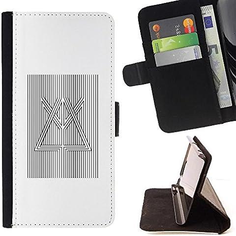 Momo Phone Case / Protettiva Custodia Flip Wallet in pelle - Prisma rifrazione della luce Bianco Nero - Sony Xperia M2