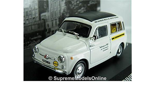 Fiat 500 Giardiniera Van Model Sip 1 43 Size White 1967 Classic