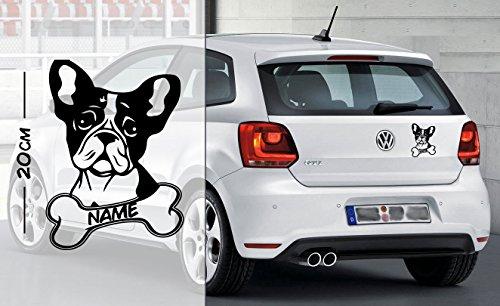 Französische Bulldogge #2 | Tier | Wunschtext | Auto Aufkleber | Hund