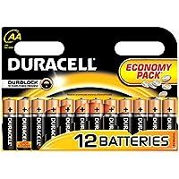 Batterie AA Duracell / Pacco Batterie di 12 / Semplicemente LR6/MN1500 Economia per Le radio, Telecomandi, Orologi Etc