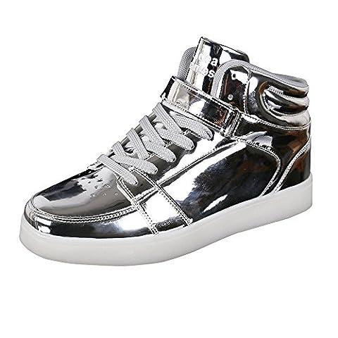 IDEA FRAMES Unisexe Femmes Hommes 7 Couleur LED Chaussures USB