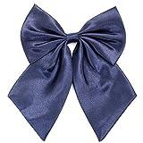 Damen Fliege Schleife Binder Schlips - 28~49 cm Länge Verstellbare Bowknot Krawatten (Navy blau)