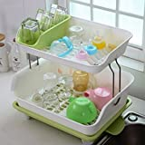 TIED RIBBONS 2 Tier Kitchen Sink Dish Drainer Drying Rack Washing Holder Large
