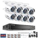 SANNCE Videoüberwachung Überwachungskamera AHD 8CH 1080P CCTV System DVR Recorder Überwachungssystem mit 8