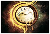 Clocks grunge Wall Poster