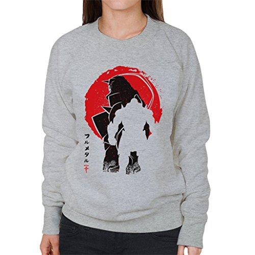Fullmetal Alchemist Aphonse Silhouette Women's Sweatshirt Heather Grey