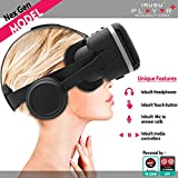 IRUSU PLAY VR PLUS VR Headset With Headphones- Touch Button And Media Controls With Mic | 3d Virtual Reality Glasses Headset NexGen 2017 Virtual Reality Glasses UPGRADED 40MM Fully Adjustable Virtual Reality Lenses With Touch Button - The Best VR Headset