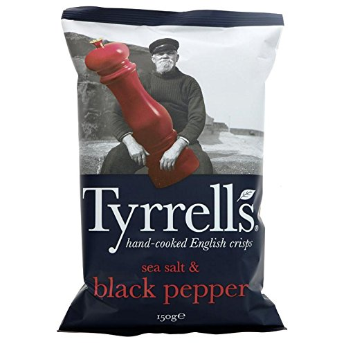 Tyrrells Sea Salt & Black Pepper Crisps 150g by Tyrrells