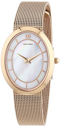 Danish Design 3320190-Women's Quartz Analogue Watch-Stainless Steel Strap Golden and Pink