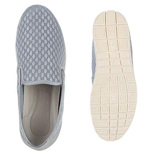 Herren Slipper Sportliche Hausschuhe Freizeit Schuhe Profilsohle Hellgrau