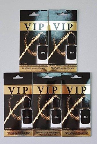 Preisvergleich Produktbild 5 x caribi VIP Auto, Zuhause oder Büro Lufterfrischer mit Parfume Duft von 303 - Giorgio Armani SI