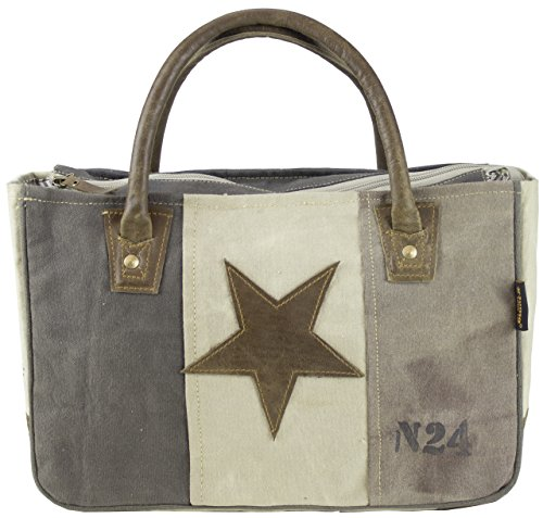 Sunsa Damen Vintage Tasche Canvas Handtasche Korbtasche fahrradtaschen 33x23x12cm (Vintage Inspiriert Handtaschen)