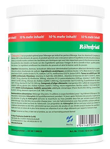 Röhnfried Kükenglück Aufzuchtpräparat (550 g), Kükenfutter mit Vitaminen als Pulver, Aufzuchtfutter für Hühner, Enten, Gänse, Truthühner & Geflügel - 5