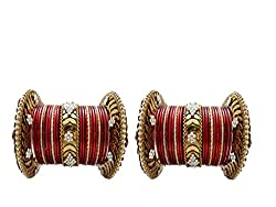 Maroon Bridal Chura Wedding Bangles chuda By My Design
