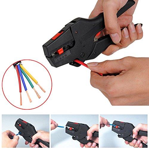 Automatische Kabel (EMOTREE 1x Abisolierzange 0,08mm²- 6mm² Automatische Kabel Abisolier Werkzeug Zange)