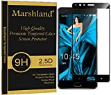 Marshland Oneplus 3 Tempered Glass Black, Full edge To Edge, 99% Transparency, 9H Hardness, 0.33mm thickness, Shatter Proof, Anti Shock, Anti Explosion, Bubble-free, Oleo phobic Coating, Tempered Glass Screen Protector For Oneplus 3