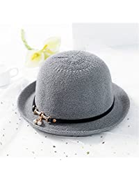 Fashion cap Sombrero Enrollado Tejido del Pescador Visera del Verano  Femenino Sombrero del Lavabo de la 5f63d567cc8
